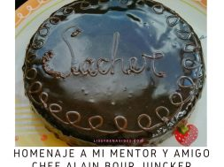 Homenaje a Chef Alain  pastel sacher